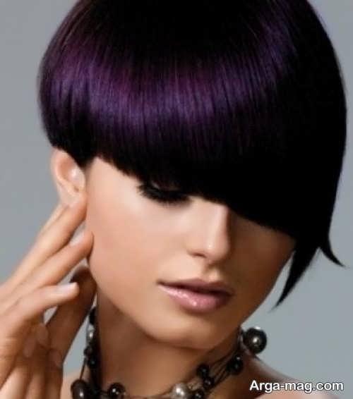 تصاویر فوق العاده رنگ موهای ارغوانی