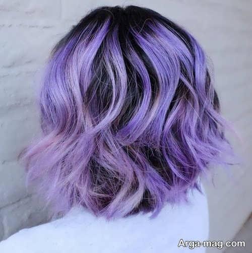 رنگ ارغوانی زیبا برای موها