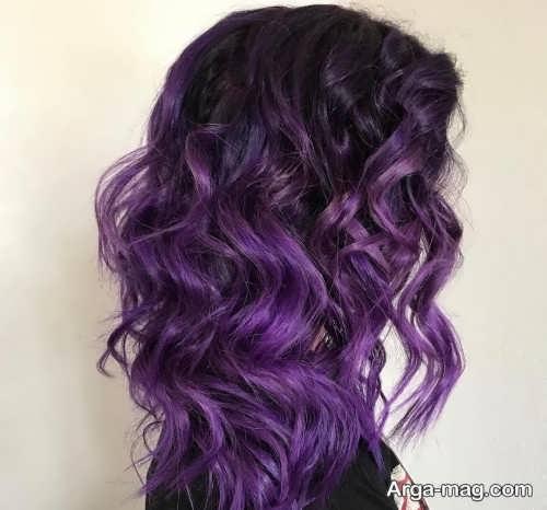 خاص ترین رنگ موی ارغوانی