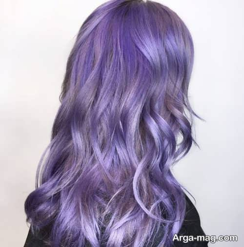 تصاویر جدید رنگ موهای ارغوانی