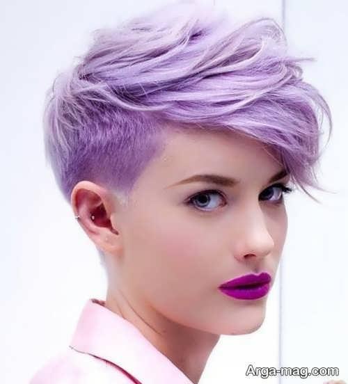 تصاویر قشنگ رنگ موهای ارغوانی