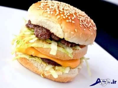طرز تهیه همبرگر مک دونالد