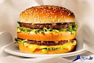 ساندویچ همبرگر مک دونالد