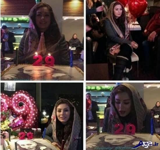 عکس سحر قریشی در جشن تولدش در برج میلاد