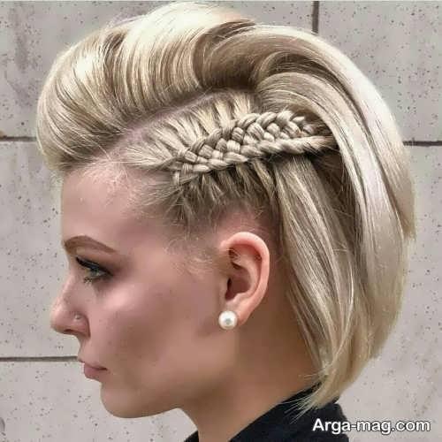 بافت کنار سر برای موهای کوتاه