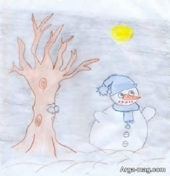 طرح آدم برفی زیبا