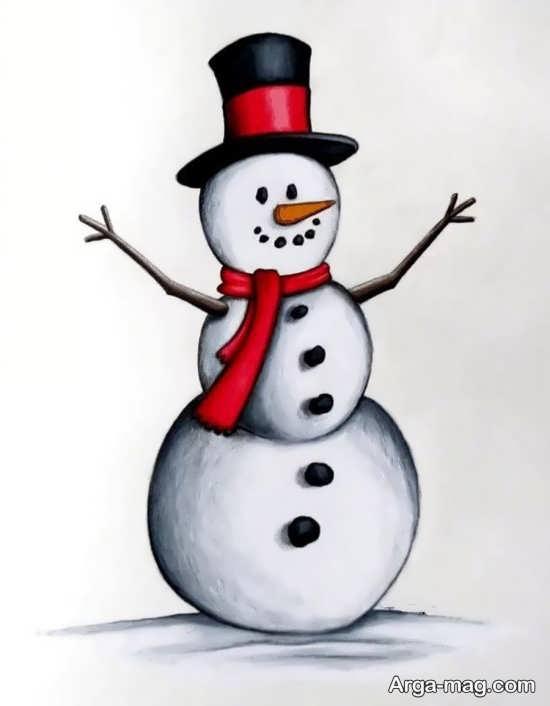 ایده رنگ آمیزی آدم برفی