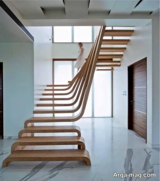 مدلهای راه پله چوبی