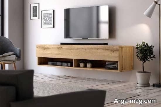جدیدترین مدل میز تلویزیون چوبی