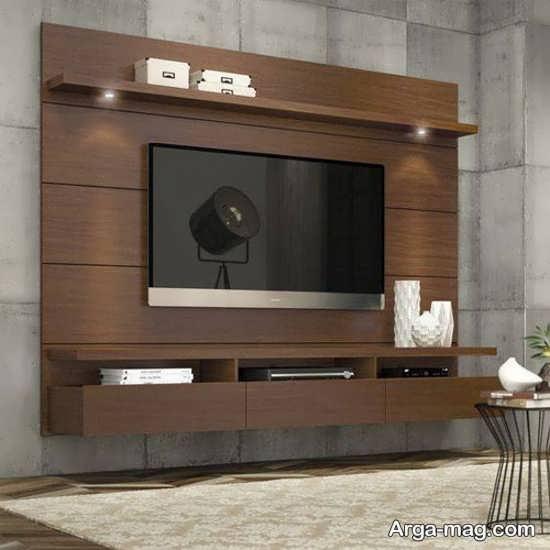 به روز ترین مدل میز تلویزیون چوبی