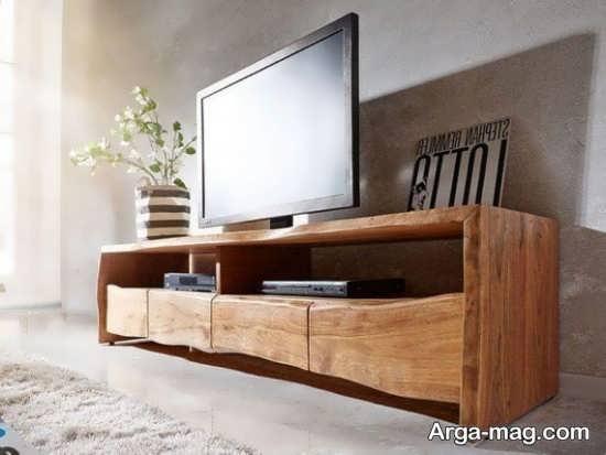 مدلهای میز تلویزیون چوبی با طرح متفاوت