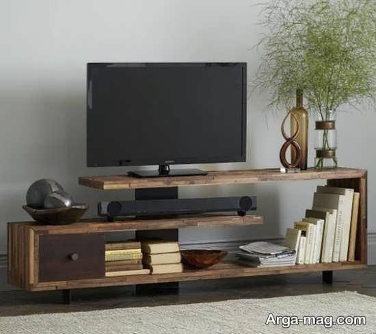 مدلهای میز تلویزیون چوبی با طرح دیدنی