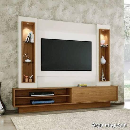 خاص ترین مدل میز تلویزیون چوبی