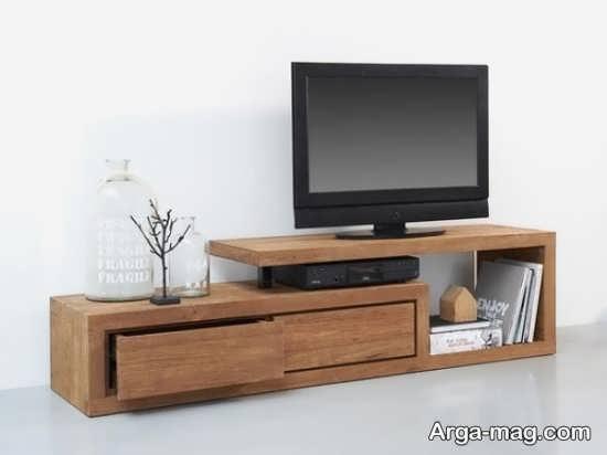 مدلهای قشنگ میز تلویزیون چوبی