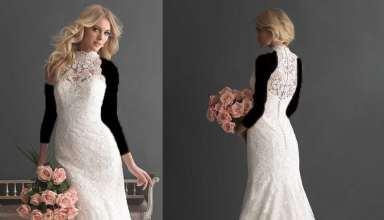مدل لباس عروس پشت گردنی با طرح های زیبا و جدید
