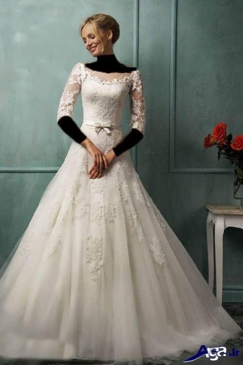 مدل های زیبا و متفاوت لباس عروس ملکه ای