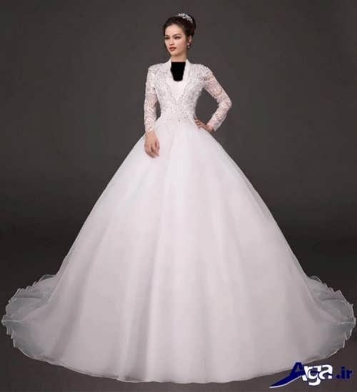 لباس عروس ملکه ای شیک و متفاوت