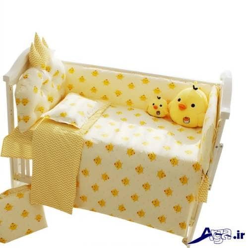 مدل تشک و لحاف نوزاد با رنگ زرد