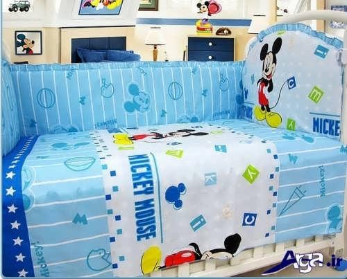 مدل تشک و لحاف نوزاد پسر با رنگ آبی