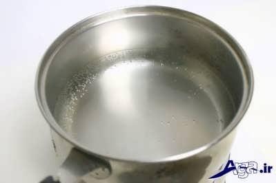 جوشاندن آب و سنگ نمک