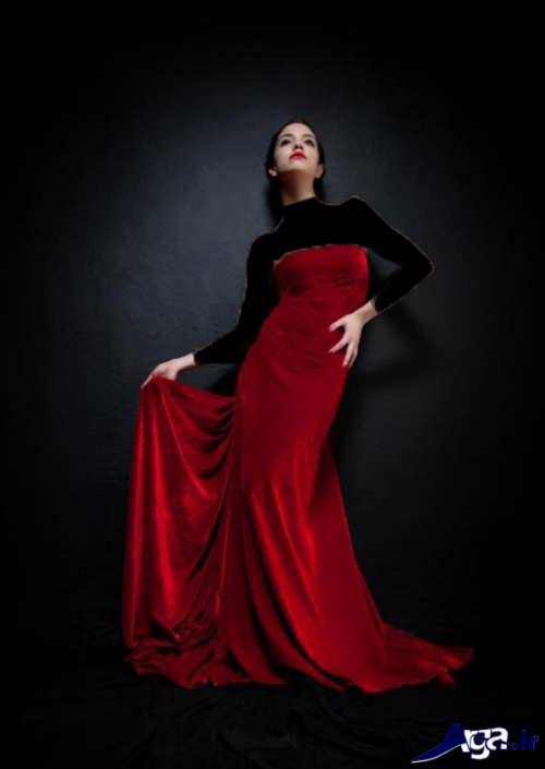 مدل لباس مخمل بلند