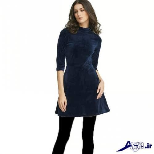 پیراهن مجلسی مخمل با طرح زیبا و شیک