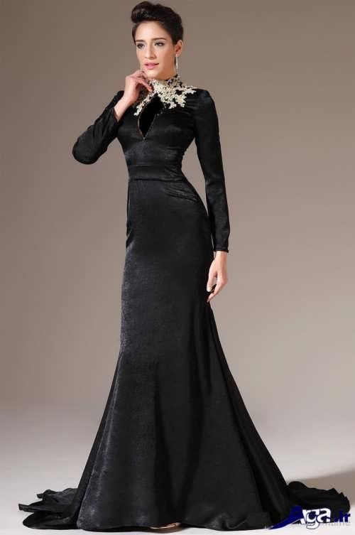 مدل لباس مجلسی مخمل مشکی
