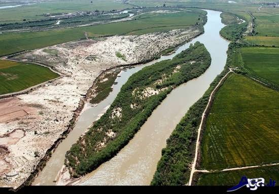 عکس تماشایی از رودخانه کارون