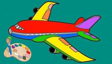 نقاشی هواپیما برای رنگ آمیزی کودکان