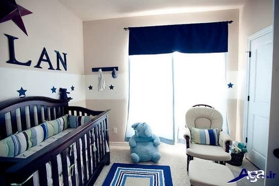 طراحی اتاق نوزاد پسر