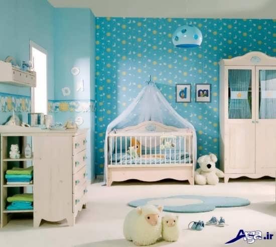 طراحی اتاق نوزاد پسر با طرحی جدید