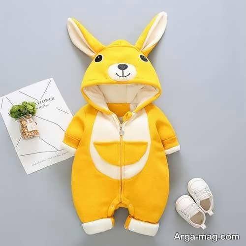 لباس سرهمی نوزادان با طرح خرگوش