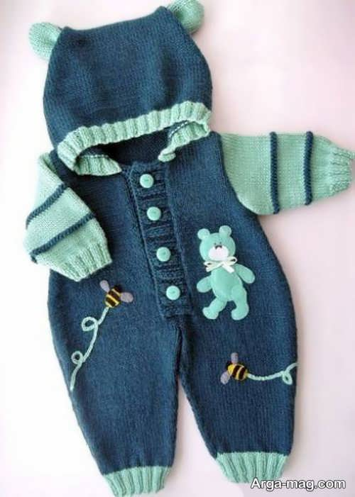 لباس سرهمی نوزادان با طرح شیک