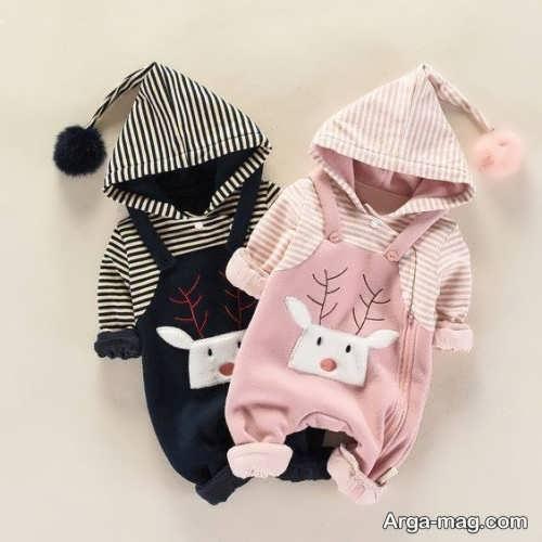 لباس سرهمی نوزادان با طرح بی نظیر