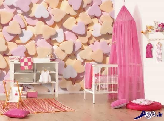 طراحی زیبا برای اتاق نوزاد دختر