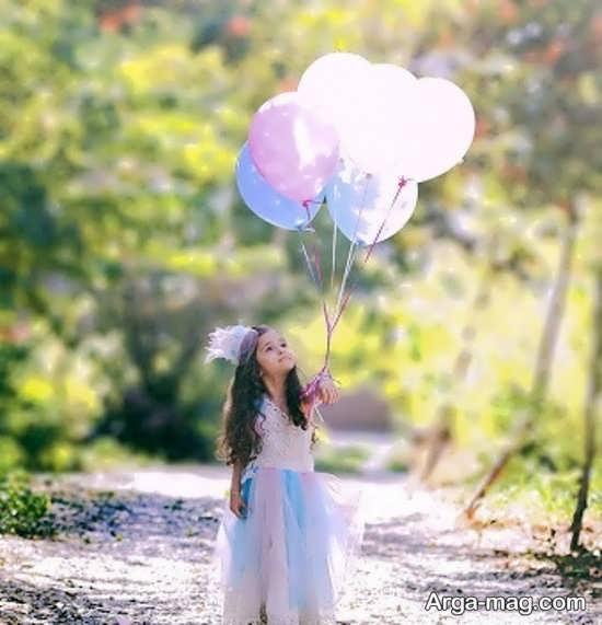 ژست عکس کودکانه قشنگ