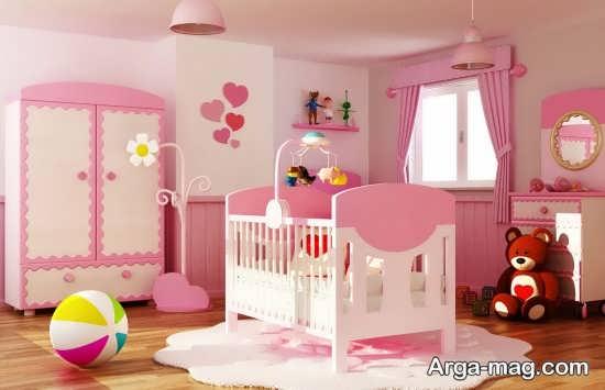 عکس دکوراسیون اتاق نوزاد دخترانه