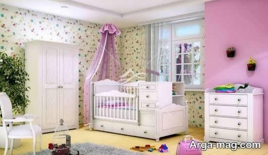 چیدمان اتاق نوزاد دختر با ایده های جدید