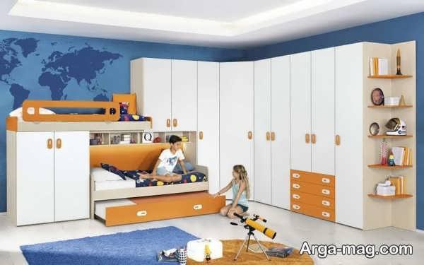 قشنگ ترین کمد دیواری اتاق کودک