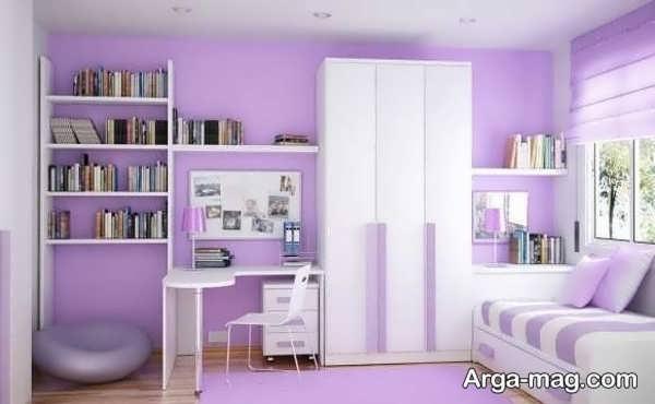 کمد دیواری اتاق نوجوان با طرح دوست داشتنی