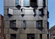 نمای ساختمان سه طبقه