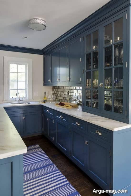 رنگ کابینتی از آشپزخانه