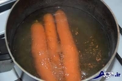 پختن هویج در آب