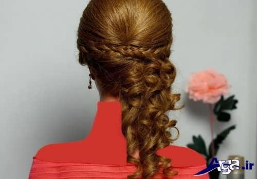مدل زیبا و جدید شینیون موهای بلند