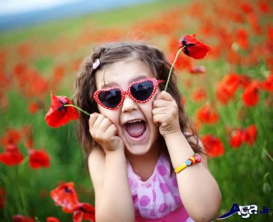 عکس کودک در طبیعت