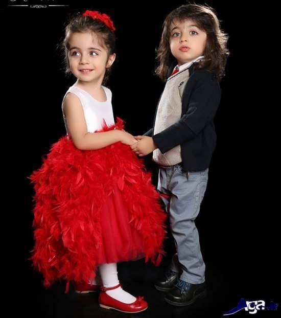 ژست عکس دو نفره کودک