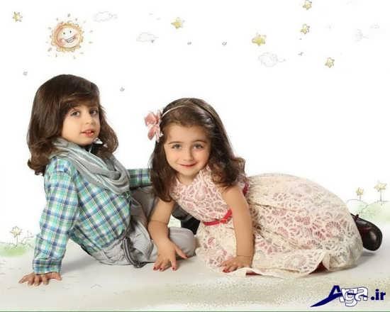 ژست عکس زیبا برای دوقلوها