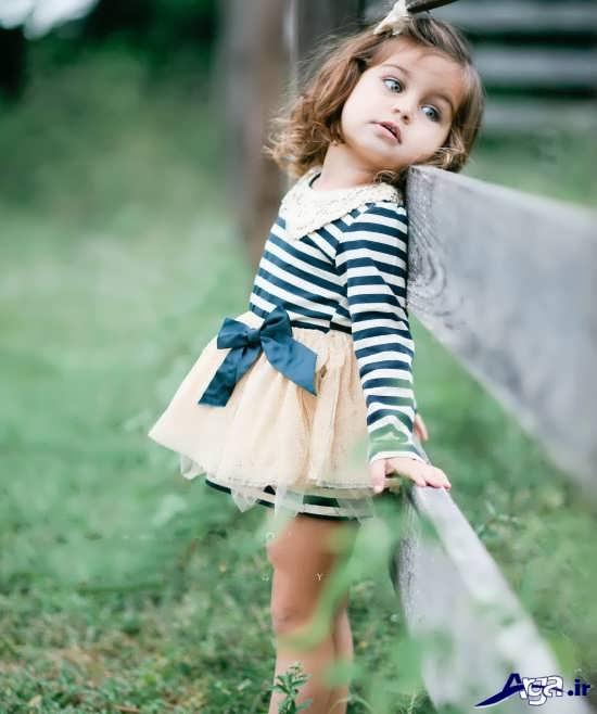ژست عکس کودک زیبا و خاص