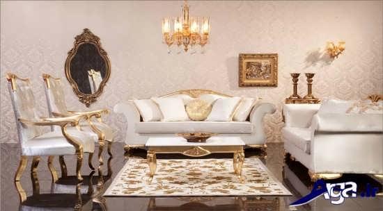 مدل مبل سفید سلطنتی