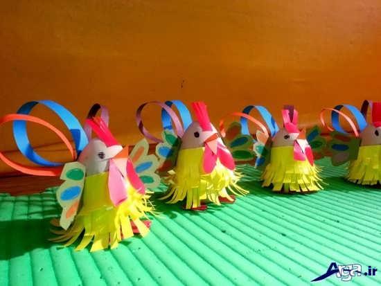 ساخت کاردستی مرغ و خروس
